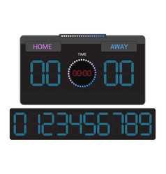 scoreboard score board digital display vector image