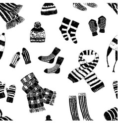 seamless background of wool knitwear vector image