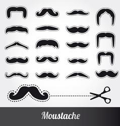 set moustache vector image