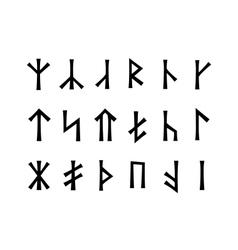 Slavonic Runes of Venethi vector image