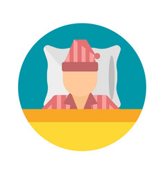 Sleep time pajamas moon icon vector