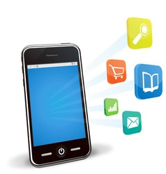 smart phone applications vector image