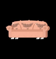 Sofa of human skin exclusive furniture unique vector