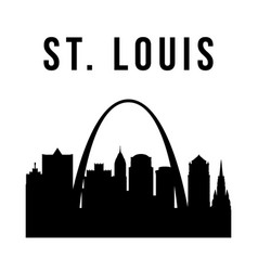 stlouis city simple silhouette vector image