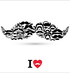 Stock Moustaches set Design elements vector