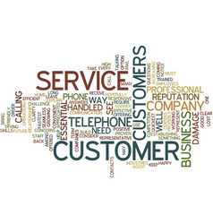 Telephone agent customer service text background vector