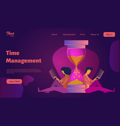 time management concept man and woman work near a vector image