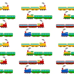 Train seamless pattern vector
