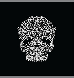 Tribal tribe native art skull head vector