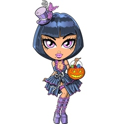 Trick Or Treat Goth Girl vector