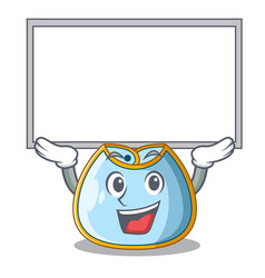Up board character baby bib for feeding toddler vector