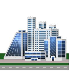 urban landscape with big modern buildings smart vector image