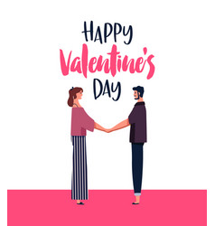valentines day card of man and woman in love vector image