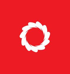 vortex circle red icon logo vector image