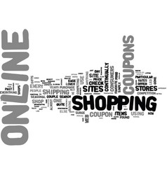 Why online coupons are the rage text word cloud vector