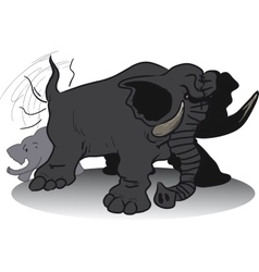 wicked huge elephant vector image