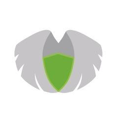 Wing feather white decoration icon graphic vector image
