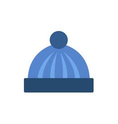Winter cap icon vector