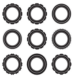black car tyre selection vector image