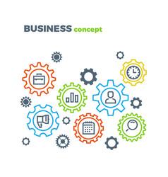 business integration mechanism marketing vector image vector image