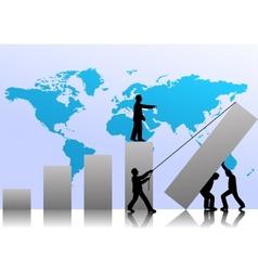 business teamwork vector image vector image