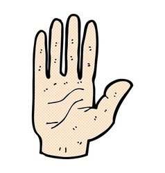 Comic cartoon hand vector