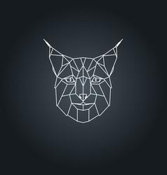 lynx polygonal head vector image vector image