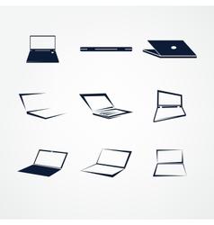 portable icon set vector image