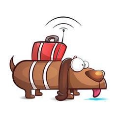spy dog - cartoon vector image vector image