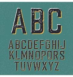 Vintage retro typeface Stamped alphabet with vector image vector image