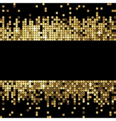 golden background of sparkling sequins vector image