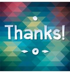 THANK YOU Lettering rewarding postcard vector image