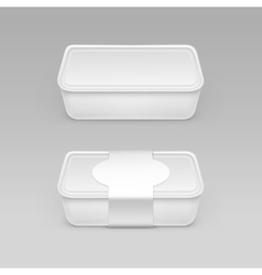 White Box for Cheese Sour cream with Label vector image vector image