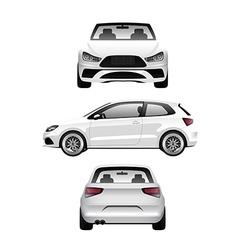 White Sports Hatchback vector image vector image