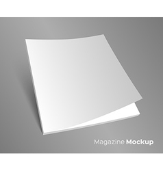 3D blank brochure cover on gray vector image vector image