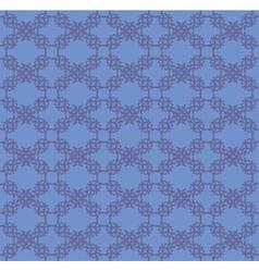 Blue flourish pattern background vector image vector image
