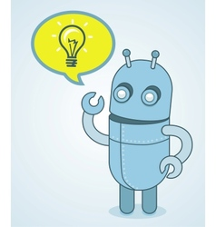 cute robot - idea concept vector image