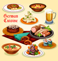 german cuisine national dishes cartoon icon vector image