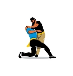Krav Maga Sparring Cartoon vector image vector image