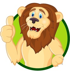 smiling lion cartoon vector image