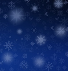Christmas background blue with snowflakes vector image