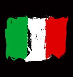 Italian grunge flag vector image vector image