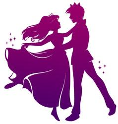 romantic dance vector image vector image