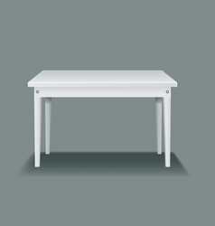 white empty table with four legs and side view vector image