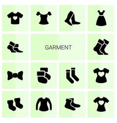 14 garment icons vector