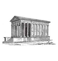 A roman temple located at nimes in southern vector