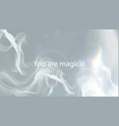 Aesthetic smoke template for blog banner vector