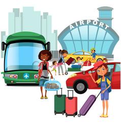 Airport transfer public transport like car vector