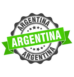 Argentina round ribbon seal vector