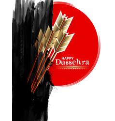 Arrow of rama in happy dussehra festival of india vector